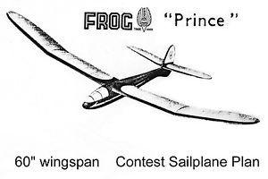 RC Glider Plan Airster RC Slope soarer Model Airplane Plan