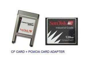 SanDisk 128MB Compact Flash ATA PC Card PCMCIA Adapter Janome Machines
