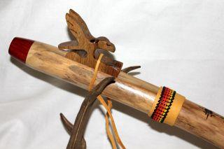 "American Flute Native Elderberry Stakwi'ÁH – Eagle Peyote Beadwork Key ""G"""