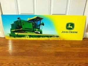 RARE Big 3 Foot Long John Deere Sticker Decal Combine Tractor Sign