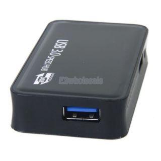 Black High Speed USB 3 0 Hub 4 Port Splitter Adapter for PC HP Dell Sony Laptop