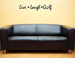 Live Laugh Golf Vinyl Wall Lettering Sayings Home Decor Quotes Art