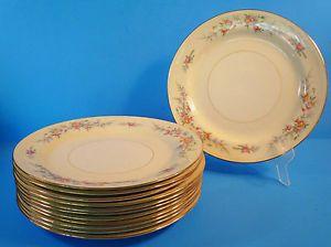 Vintage Homer Laughlin Fine China 12 Dinner Plates Ferndale Eggshell Nautilus