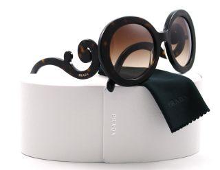 New Prada Sunglasses SPR 27N Havana 2AU 6S1 SPR27N Auth