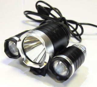 Mountain Bike Cycle Bicycle Lights 3000 Lumens 3x CREE XM L T6 LED & 2x XPE R2
