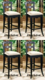 black french country kitchen style decor counter height chair bar