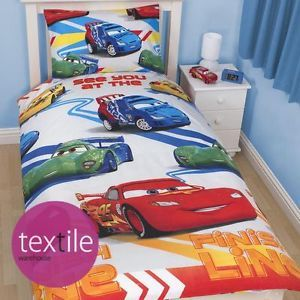 Disney Pixar Cars Speed Boys Kids Character Single Duvet Quilt Cover Bedding Set