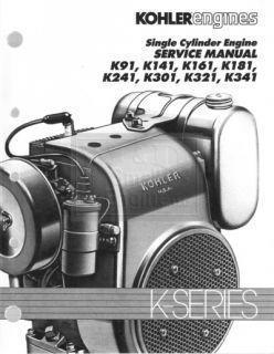 Genuine Kohler Small Engine Repair Manual 4 16HP Models K91 K341 TP 2379 New