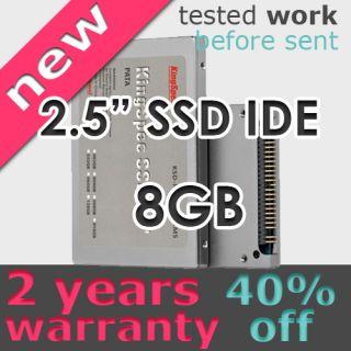 """KingSpec 2 5"""" IDE PATA SSD MLC Hard Drive 44pin 8GB New"""