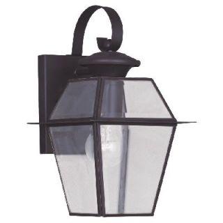 New 1 Light SM Solid Brass Colonial Outdoor Wall Lamp Lighting Fixture Bronze