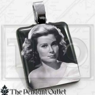 Grace Kelly 50s Movie Star Photo Charm Pendant Necklace