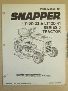 Snapper Riding Lawn Mower Parts Manual Manual No 06414