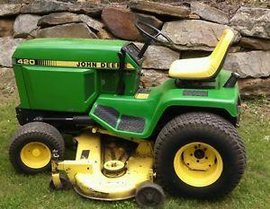 """Refurbished John Deere 420 Garden Tractor Lawn Mower 60 """" Deck Great Condition"""