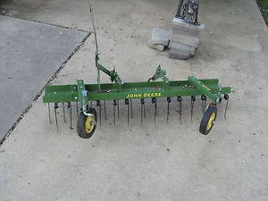 John Deere Lawn Tractor Mower Thatcher Dethatcher Rake Attachment