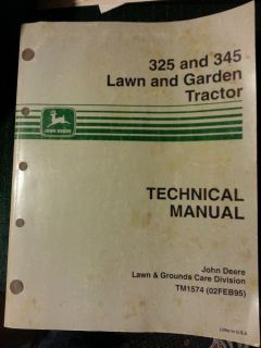 325 and 345 Lawn and Garden Tractor Technical Manual