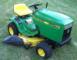 "John Deere 175 Lawn Garden Tractor 38"" Deck Mower with Manual"