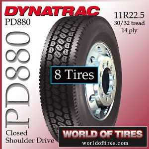 8 Tires Dynatrac PD880 11R22 5 Semi Truck Tire 11 R 22 5 11 22 5 Truck Tires