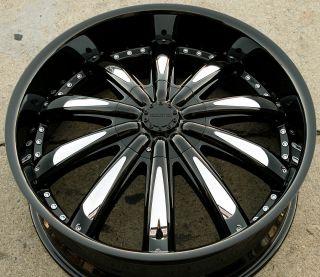 Cabo 170 22 x 8 5 Black Rims Wheels Dodge Avenger 95 00 5H 34