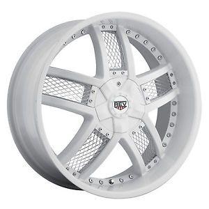 "22"" White Rev 867 Wheels GMC Chevy Ford Truck SUV F 150 Silverado 6 Lug"