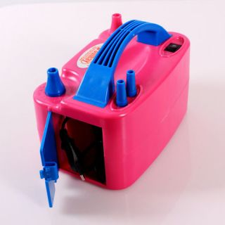 Electric Nozzle Portable Balloon Inflator Air Blower Pump Two Nozzle Portable