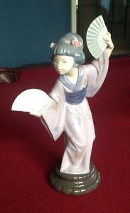"""RARE Vintage Large Lladro Figurine Japanese Geisha Girl 1978 12"""""""