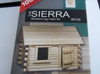 100 Pine Sierra Miniature Log Cabin Kit by Dura Craft Mint in Box Dollhouse
