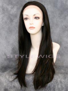 Long Lace Front Wig Heat OK 3 Tones Brown Auburn Blonde Mix Sadi 4 27 30 99c