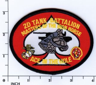 USMC 2nd Tank Battalion Patch Marines 2D Tanks BN OIF Iron Horse M1 Abrams Iraq