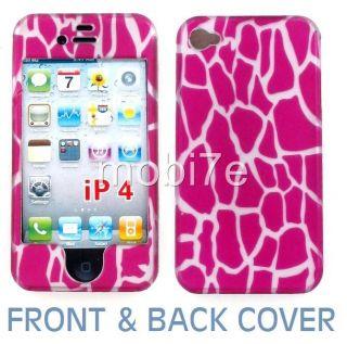 2D Pink Giraffe Hard Case Cover iPhone 4 ATT Verizon G