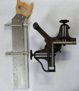 Stanley No 100 Miter Machine Picture FRAMING Vise with Saw