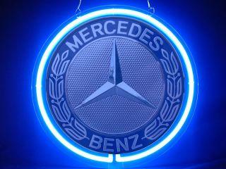 Neon 501 Mercedes Benz Car Logo Display Neon Sign