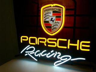 New Porsche Auto Racing Neon Light Sign Gift Pub Bar Beer Sign V28