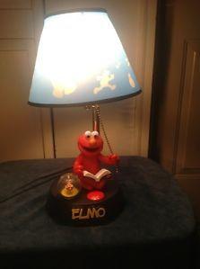 Sesame Street Elmo's Talking Bedside Lamp Night Light Childrens