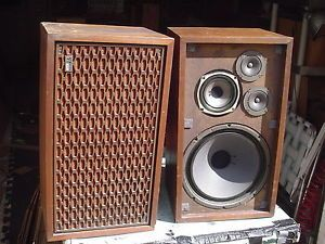 Vintage Fisher Radio Shack 11C Large Walnut 3 Way 4 Speaker Stereo Speakers