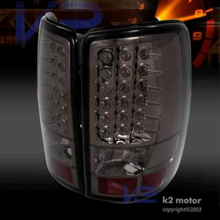 2000 2006 Chevy GMC Tahoe Suburban Smoke LED Tail Light
