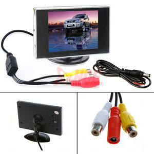 """3 5"""" TFT LCD Color Screen Monitor for Car Rear Reverse Rearview Backup Camera"""