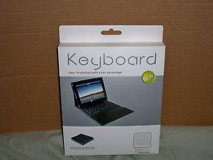 Apple iPad 2 3 Bluetooth USB Port Keyboard Folio Leather Silicone Case White
