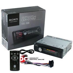 sony cdx gt40u car mp3 cd player w usb port aux in remote free 3 5mm � wiring  diagrams