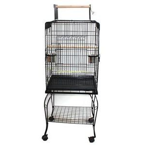 Portable Bird Cage Pet Parrot Canary Cage Aviary with Stand Wheel Good Warranty