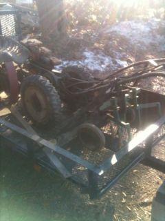 Waterbury Tractor 2 HP Walk Behind Plow Cultivator Harrow Sulky