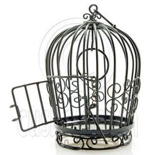 Black Wire Birdcage Bird's Cage Open Door New Doll's House Dollhouse Miniature