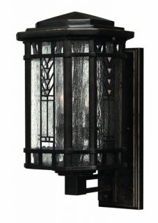 Hinkley Lighting H2240 Stained Glass Tiffany 3 Light Outdoor Wall Sconce From