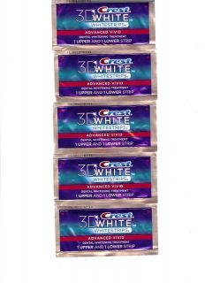 Crest 3D Whitestrips Advanced Vivid 10 Whitening Strips w Advanced Seal Technol
