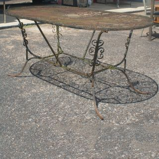 370632411565 furthermore Vintage Antique Wrought Iron Patio Garden Furniture Cast Iron Table Grape Design besides Display Plants Unique Bicycle Planters together with Kids Patio Furniture besides 111663314374. on wrought iron garden furniture ebay