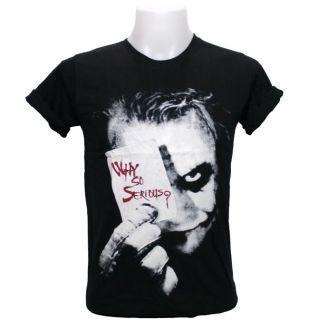 Joker T Shirt Heath Ledger Dark Knight Idol Star Rock