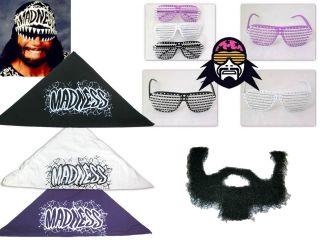 Madness Macho Man Randy Savage Bandana Glasses Beard Costume