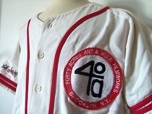 Vtg 2Pac Spike Lee 40 Acres and A Mule Filmworks Baseball Jersey L Sewn RARE