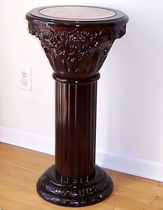 ... Cherry Pedestal Base Column Marble Plant Stand 30 Good Ideas