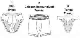 Jalie Men's Boys' Briefs Trunks Boxers Thong Underwear Sewing Pattern 2327