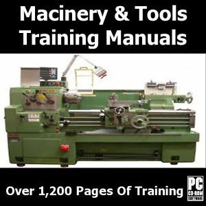 Metal Lathe Machinery Power Tools Training Course DVD Books Mini Carpentry